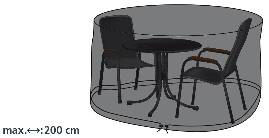 Schutzhülle Deluxe in anthrazit für runde Sitzgruppen 200 cm von beo
