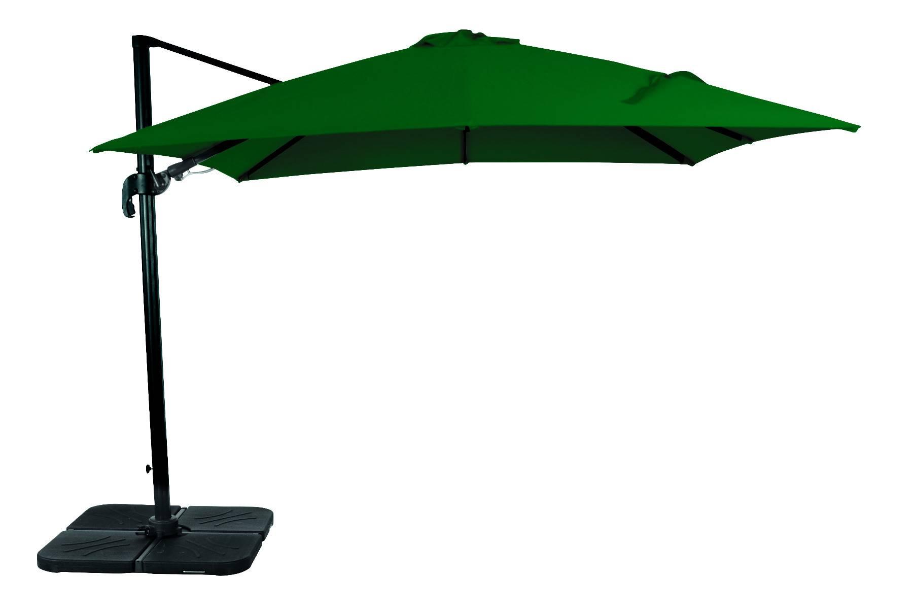 acamatic 3D Ampelschirm quadratisch 300x300 cm anthrazit forest 25,8 kg mit Fuss ohne Platten Aluminium Gestell Sonnenschutzfaktor 50+ mit wasserabweisendem Bezug aus Polyester 200g/m²