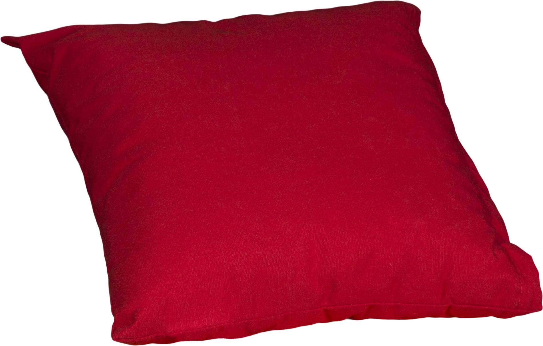Cocktailkissen Sitzkissen rot Dralon Bezug 35 x 35 cm mit Reissverschluss