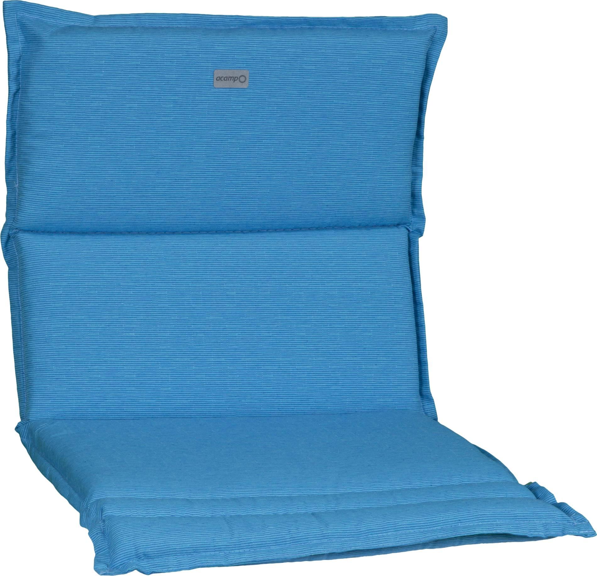 acamp Sesselkissen hellblau Model-B 92 x 47 x 4 cm passend für niedrige acatop und albergo Gartenstühle