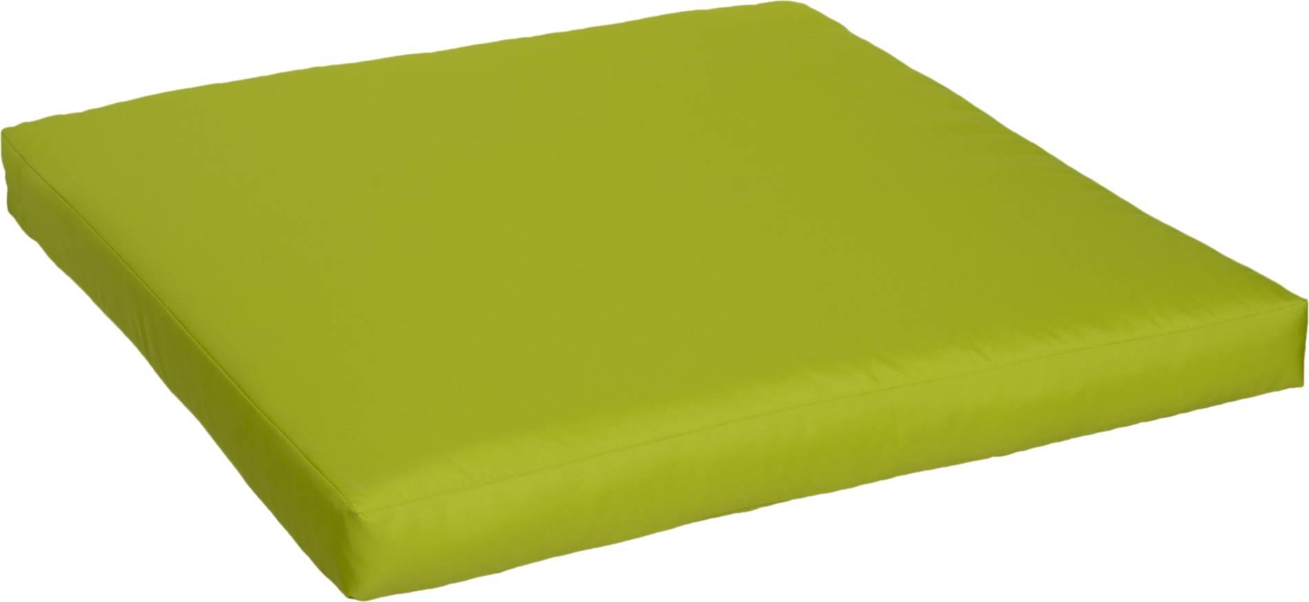 Hellgrüne wasserabweisende Reissverschluss Sitzkissen für Lounge Gruppen ca. 80 x 80 cm
