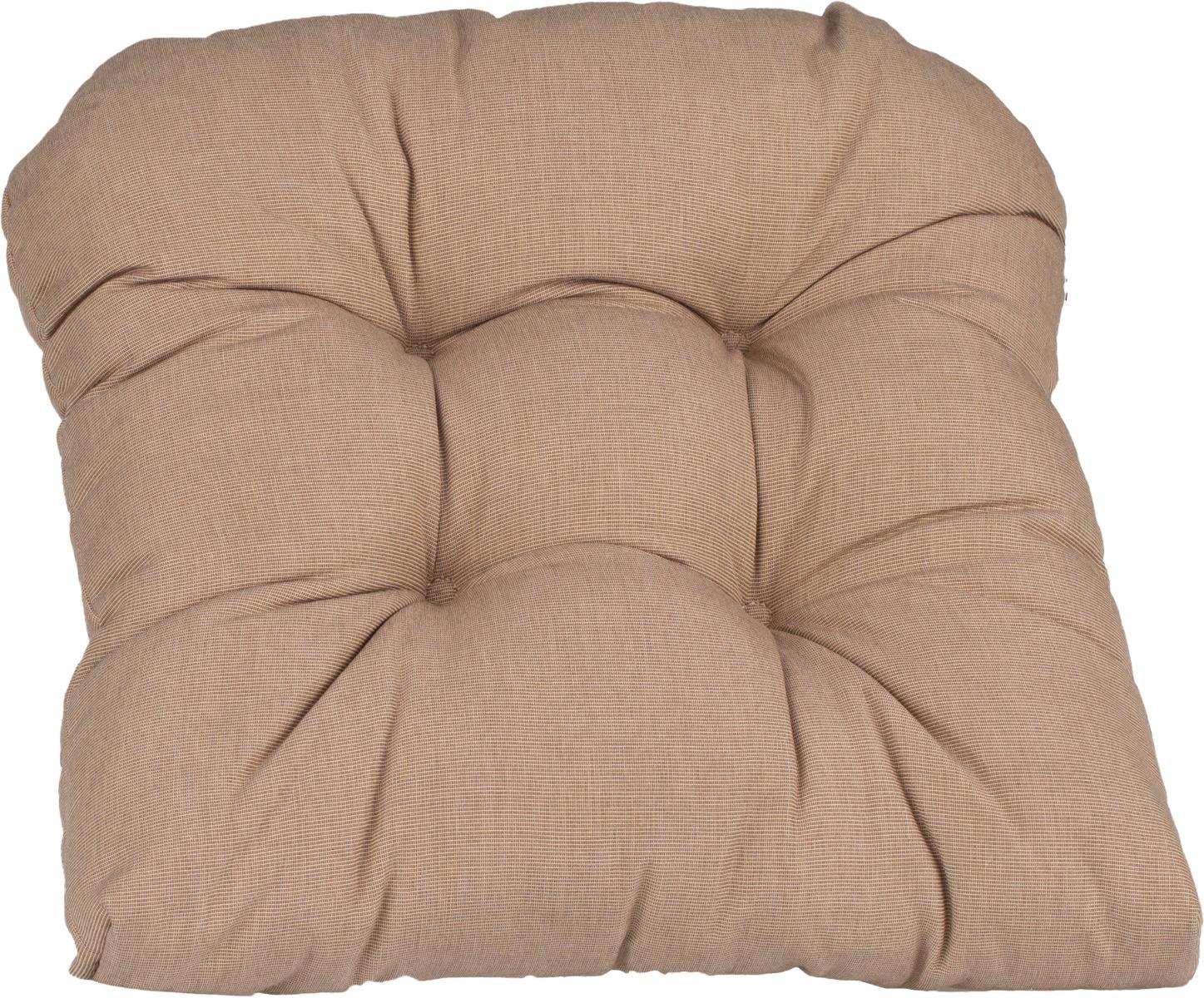 beo Sarah Sitzkissen halbrund ca. 38x42 cm in dunkelbeige mit Reissverschluss