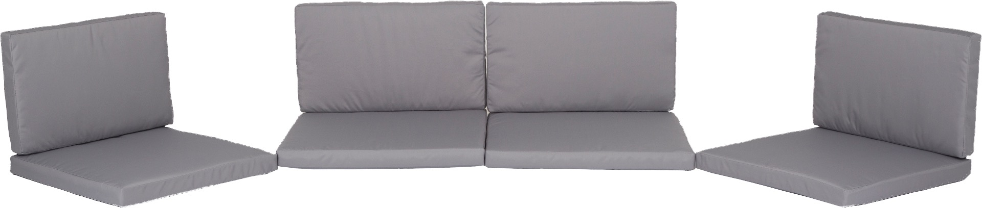 Ersatzkissen Set Lounge Gruppen Monaco in grau 100% Polyester