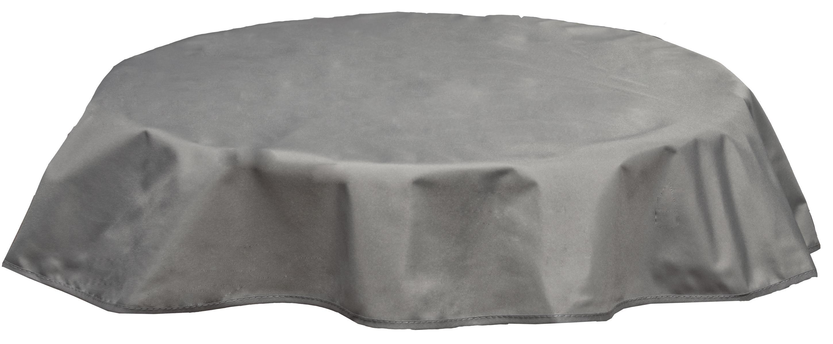 Runde Tischdecke 160cm wasserabweisend 100% Polyester in hellgrau