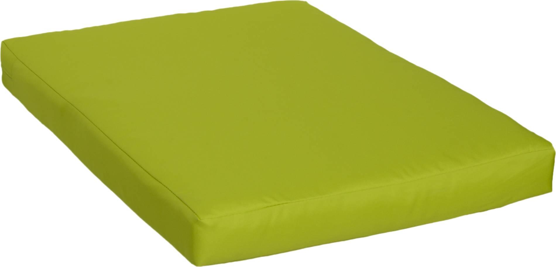 Palettenkissen 100% Polyester für Palettensofas oder Loungegruppen in hellgrün ca. 80 x 60 cm