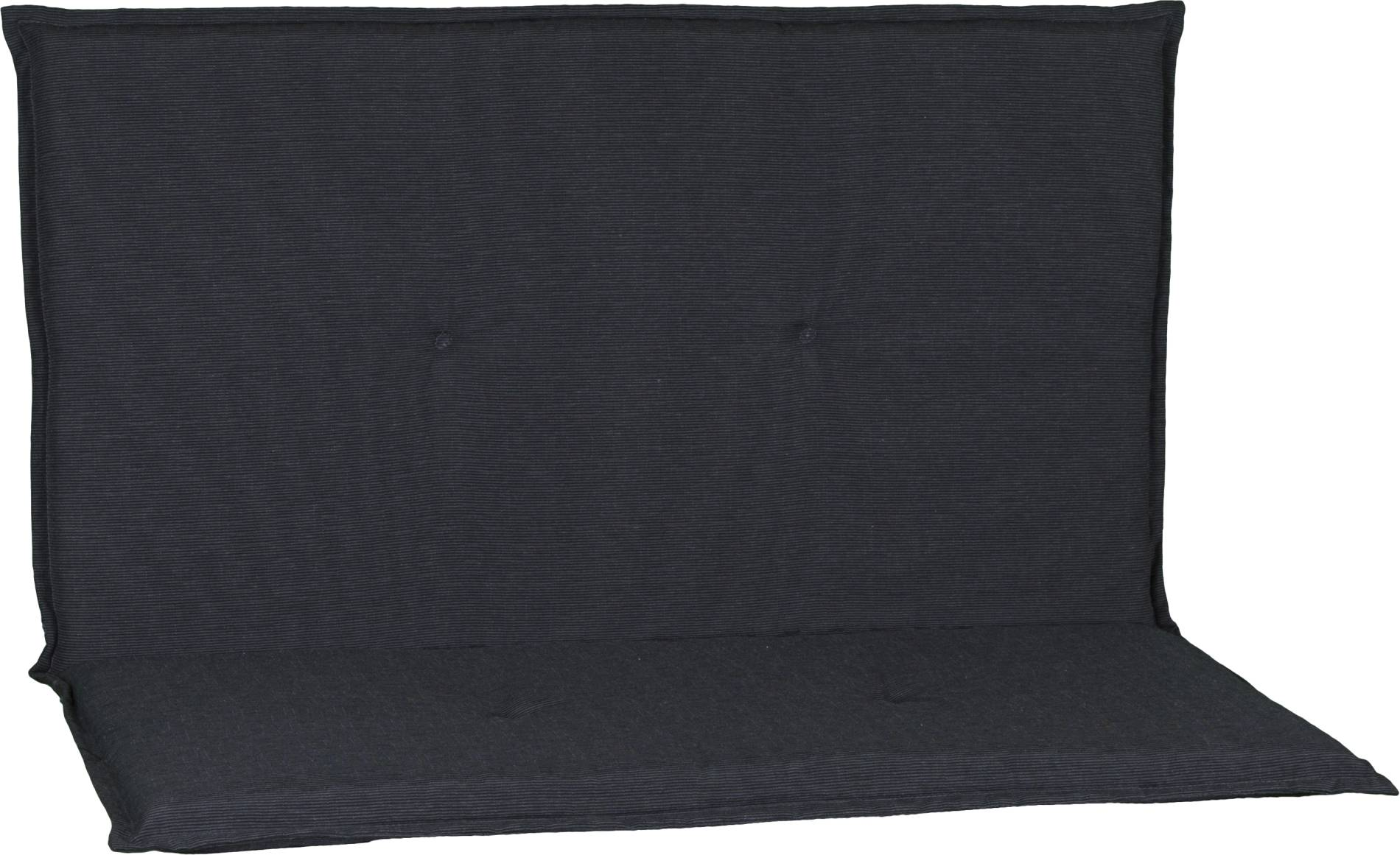 acamp 2-er Bankkissen Dunkelgrau meliert Typ-O 97 x 99 x 4 cm passend für Stapelbank Stratos