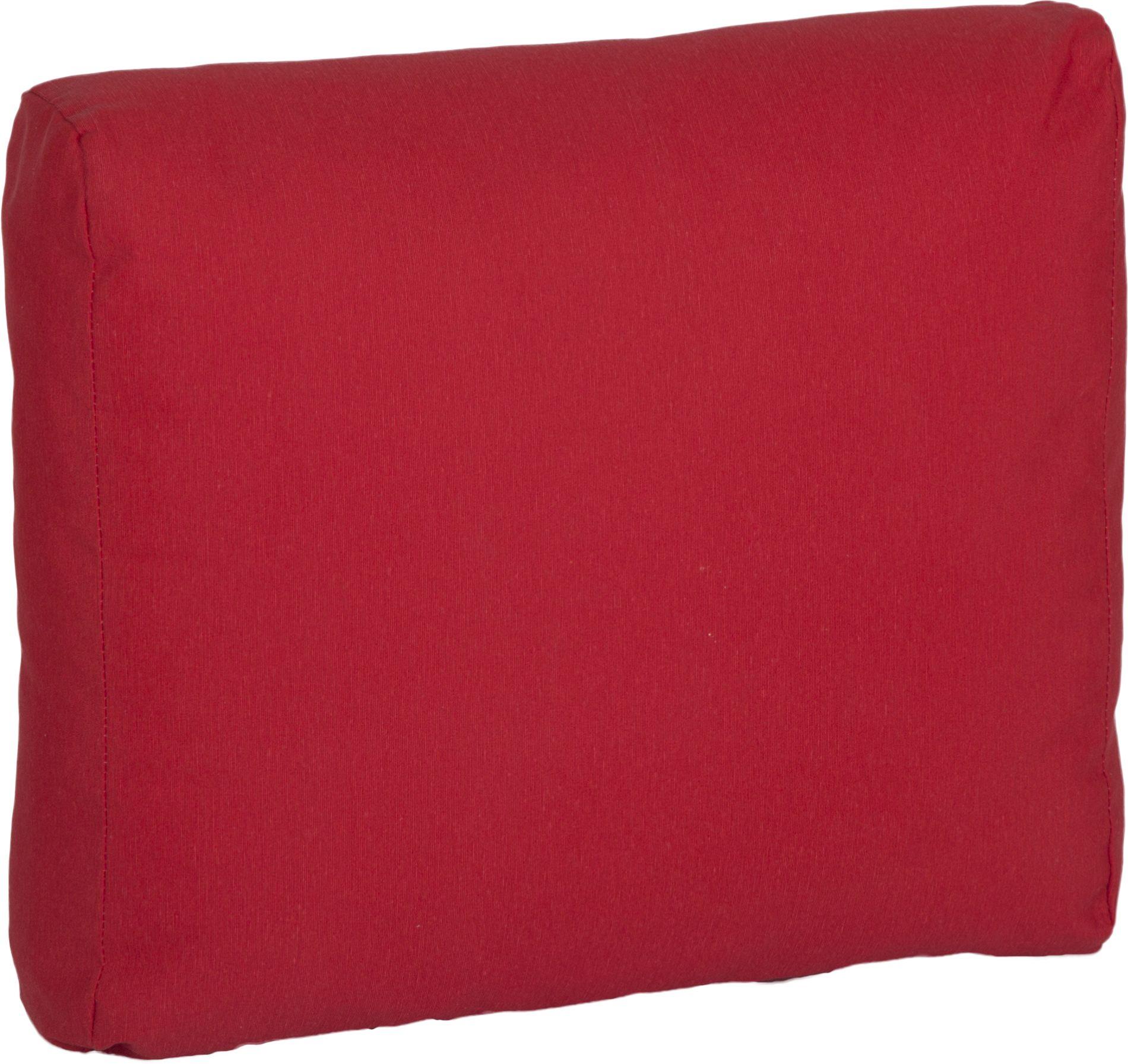 acamp Weekend Eckkissen für Loungegruppe in rot 46 x 42 x 22 cm