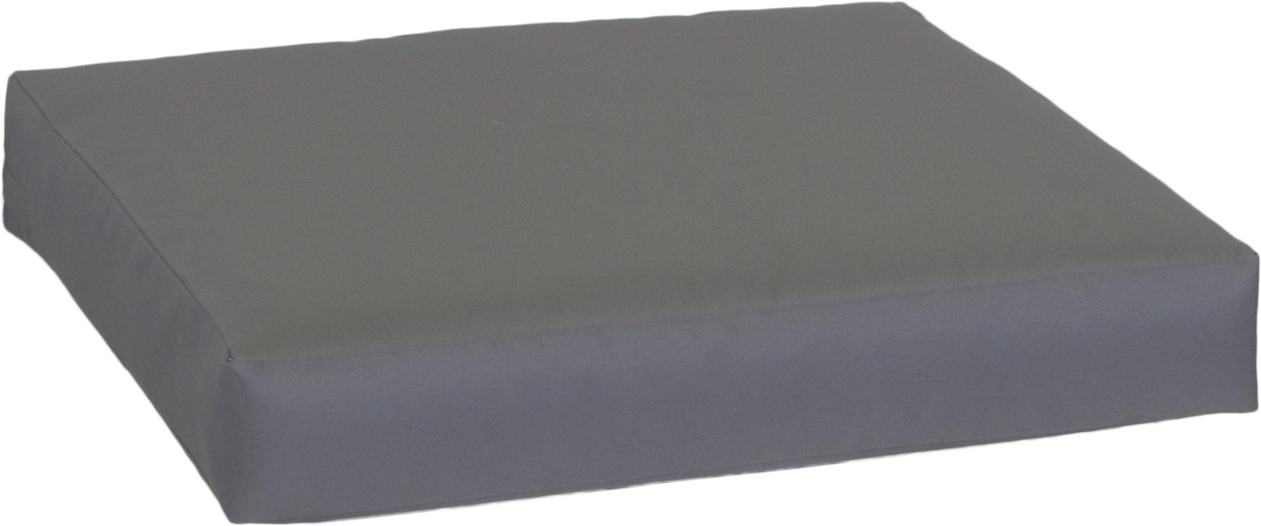 Kissen für Rattan Gartengruppen ca. 50 x 50 cm in anthrazit 100% Polyester wasserabweisend