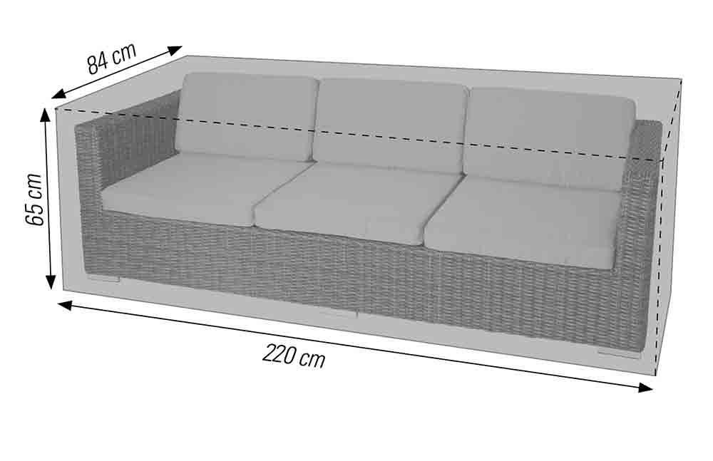 Schutzhülle für Dreisitzer Lounge Sofa Sizilien 220x84x65 cm anthrazit acamp cappa 57726