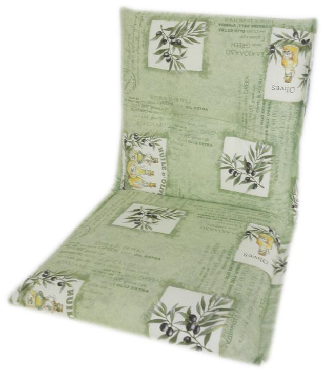 Auflage für Niederlehner Gartenstuhl Oliven Motiv hellgrün