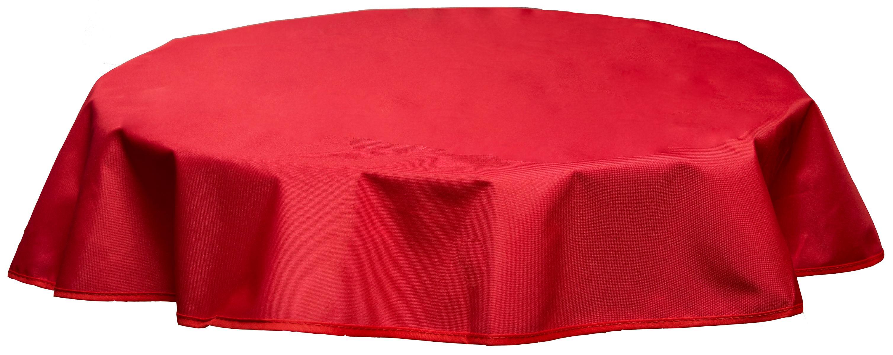 Runde Tischdecke 160cm wasserabweisend 100% Polyester in rot