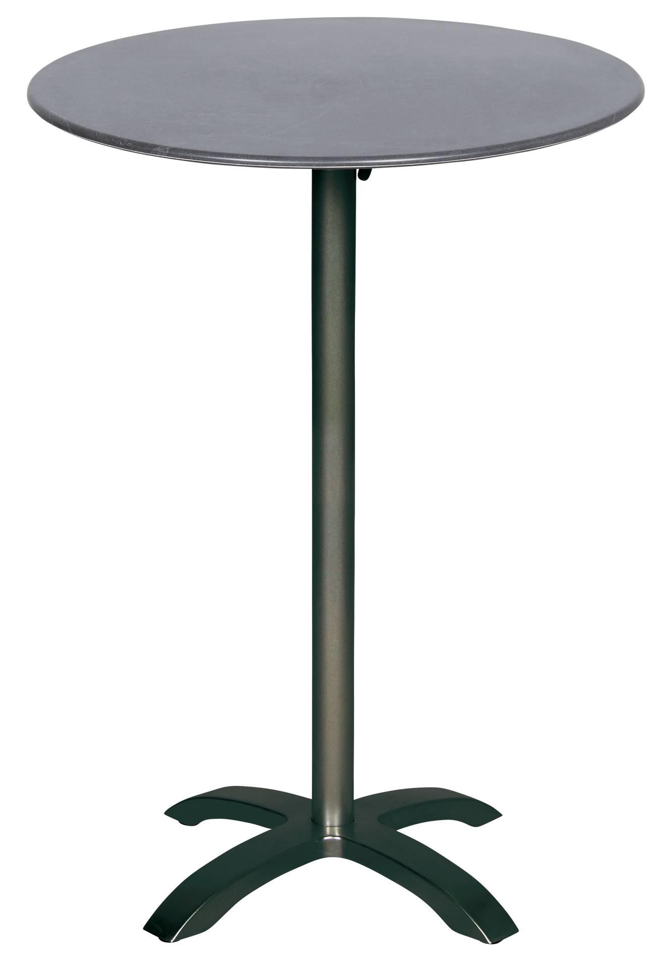 Stehtisch 56637 acamp acaplan anthrazit schiefer 80cm Höhe 110cm rund Aluminium mit extrem dünner Platte