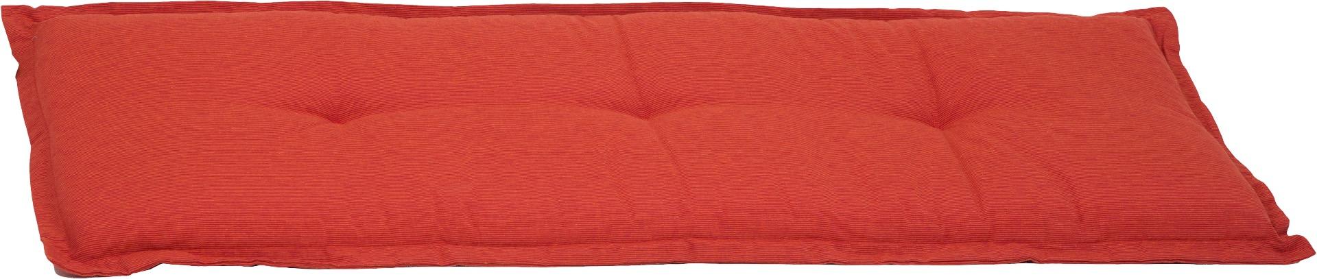 Bankauflage 3-Sitzer Sitzkissen ca. 145x45x6 cm orange meliert