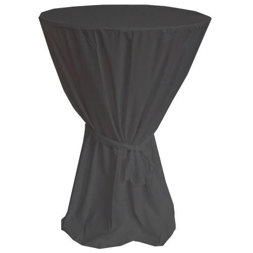 Husse für Stehtisch mit Schleife 701273 Durchmesser 60cm x Höhe 120cm in Schwarz