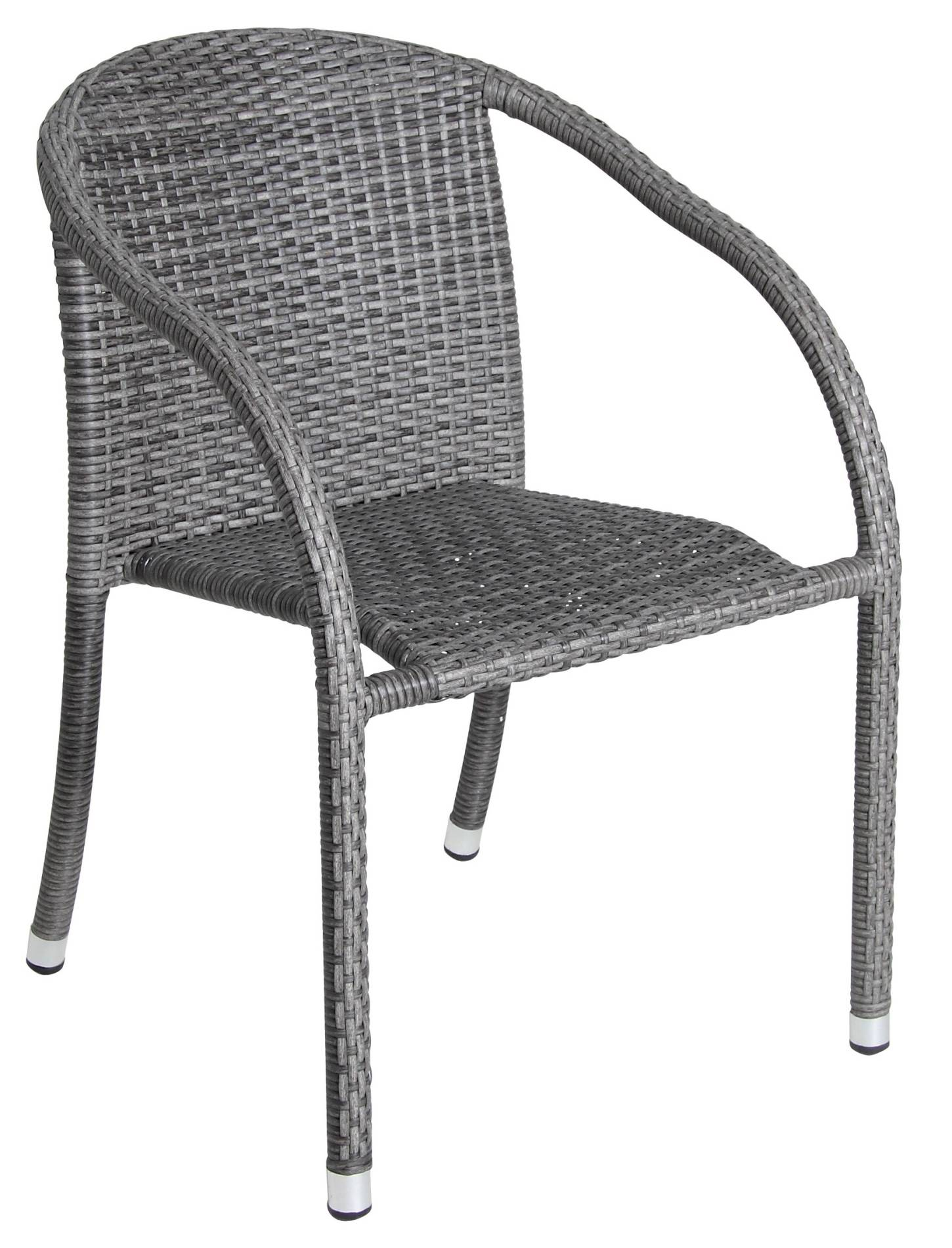 acamp Bistrosessel Savona 56414 Aluminium rundes Kunststoffgeflecht anthrazit