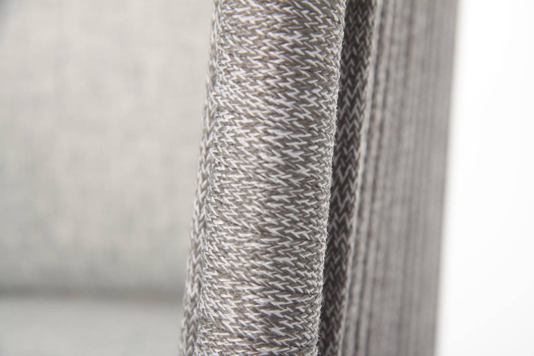 4-er Set Manhattan Stapelsessel von acamp Seiloptik mit Polyesterschnüren anthrazit dunkelgrau