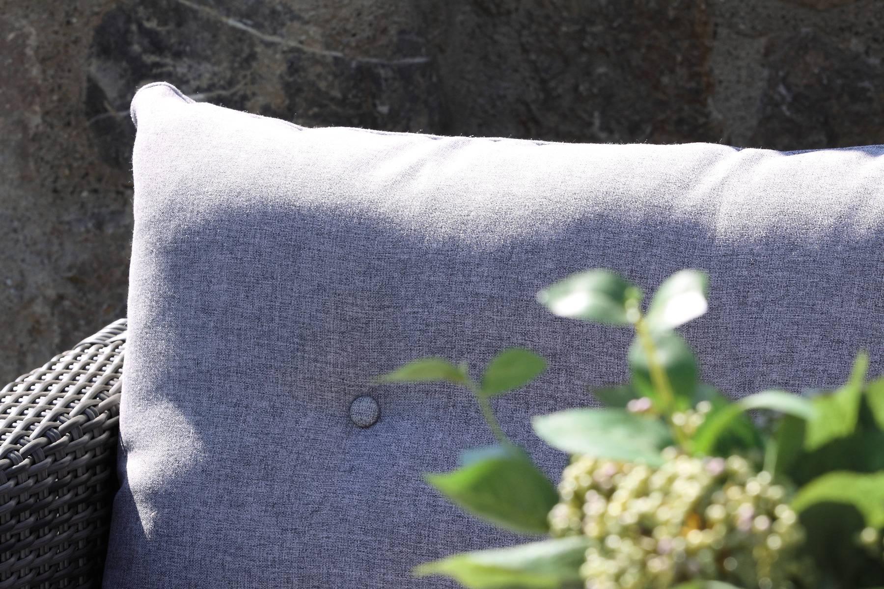 acamp Lounge Set 3-teilig 57621 Sicilia mattgrau hellgrau meliert