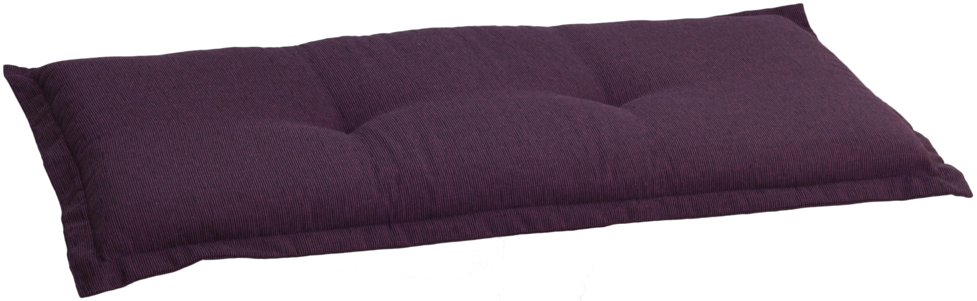Polster für 2-Sitzer Gartenbank in lila ca. 100 x 45 cm ca.7 cm dick