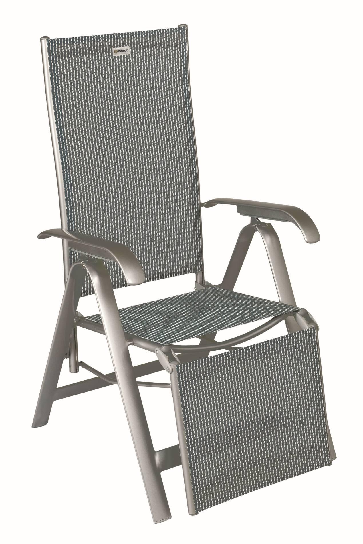 Acamp acatop Relaxsessel 7-fach verstellbar Aluminium Acatex Gewebe platin grigio
