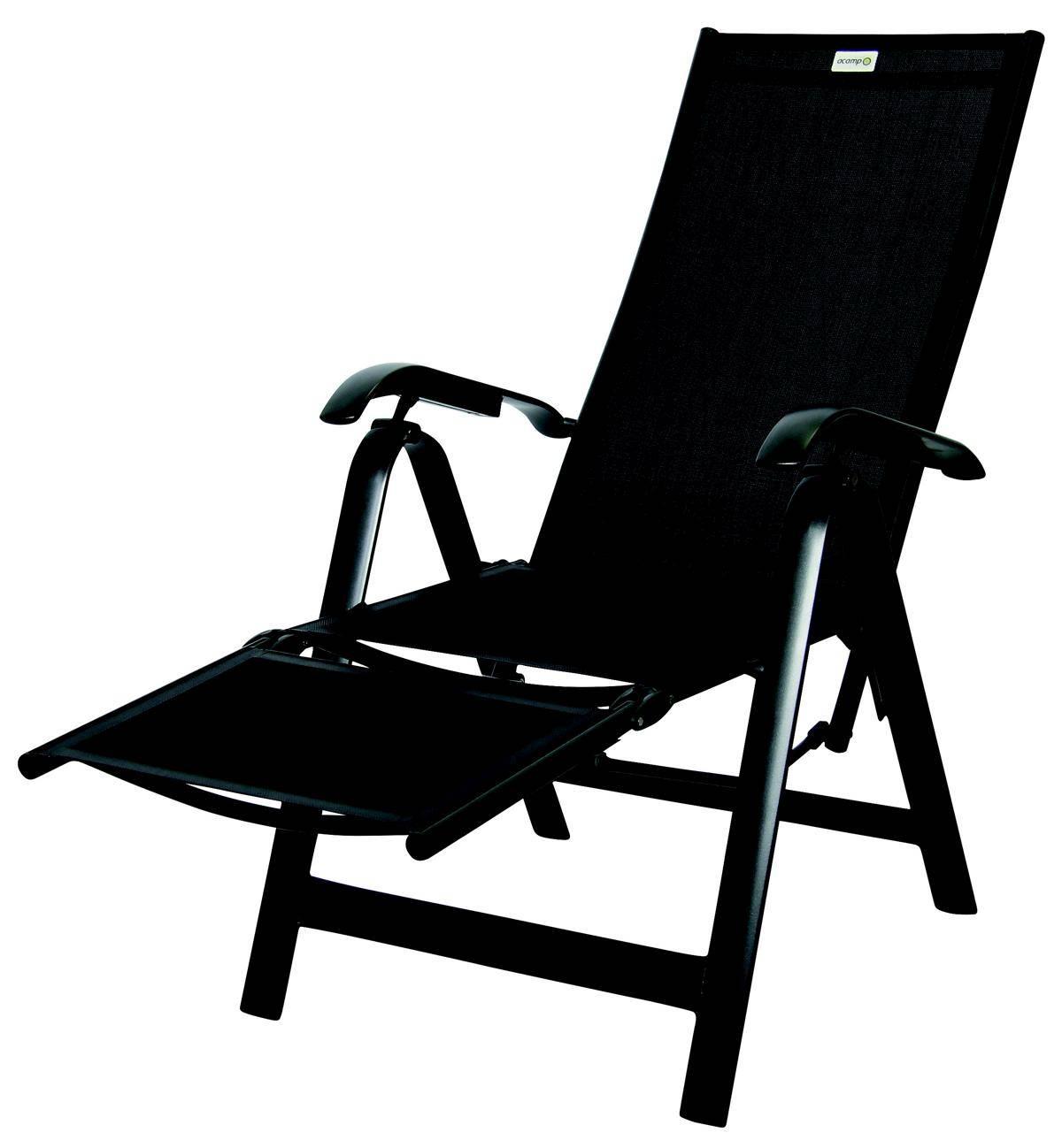 Acamp acatop Relaxsessel 7-fach verstellbar Aluminium Acatex Gewebe anthrazit nero