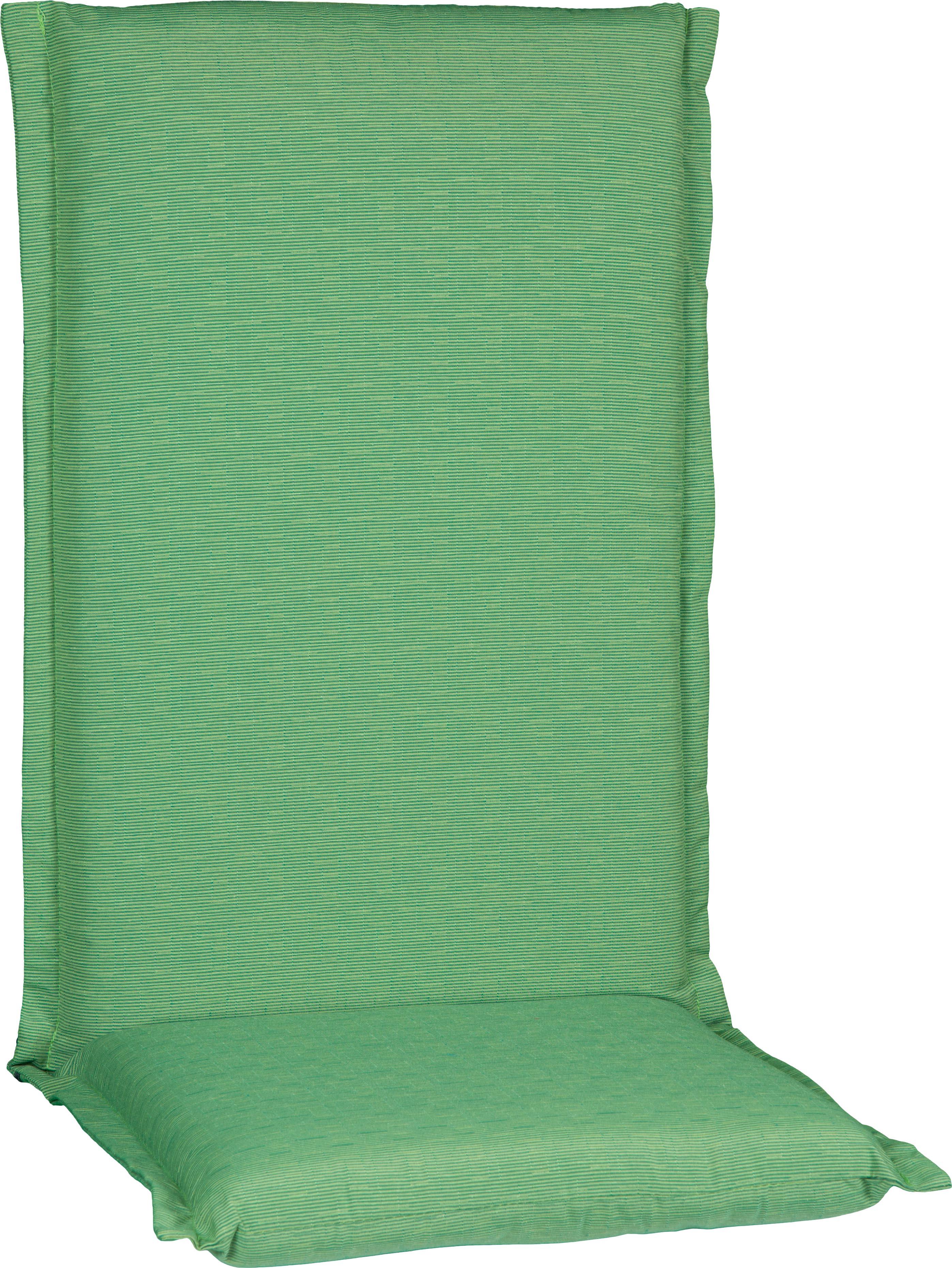 Premium Hochlehner Kissen hellgrün P211 Querstreifen Struktur Bezug abnehmbar durch Reissverschlüsse