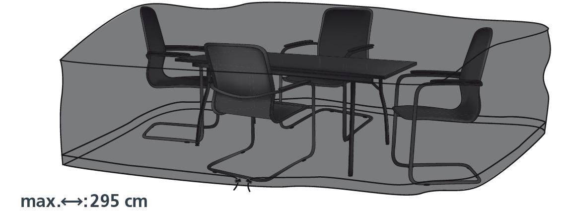 Schutzhülle Deluxe in anthrazit für Sitzgruppen 295x210 cm von beo