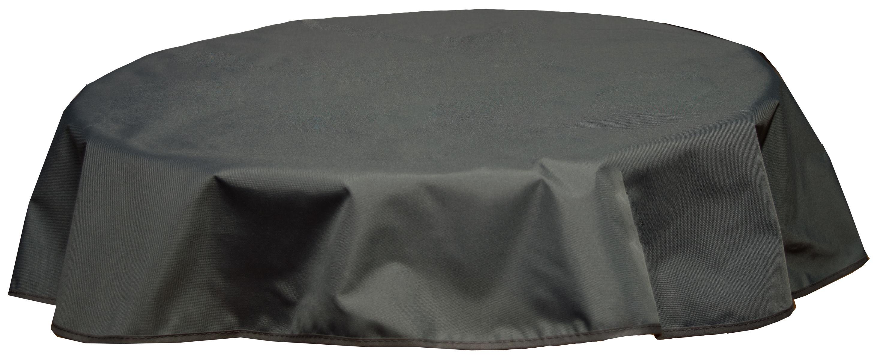 Runde Tischdecke 120cm wasserabweisend 100% Polyester in anthrazit