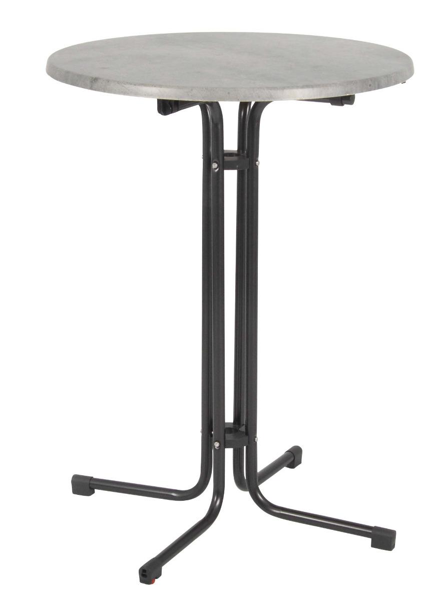 Piazza Stehtisch 80 cm mit Topalit Tischplatte anthrazit / cemento grigio