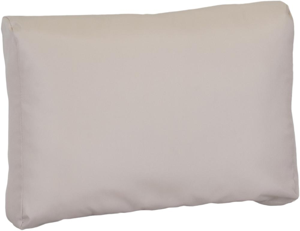 ca. 70 x 40 cm Lounge Rückenkissen Premium beige wasserabweisend