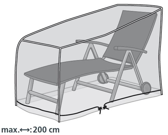 Schutzhülle für Liegen bis 200cm Länge von beo