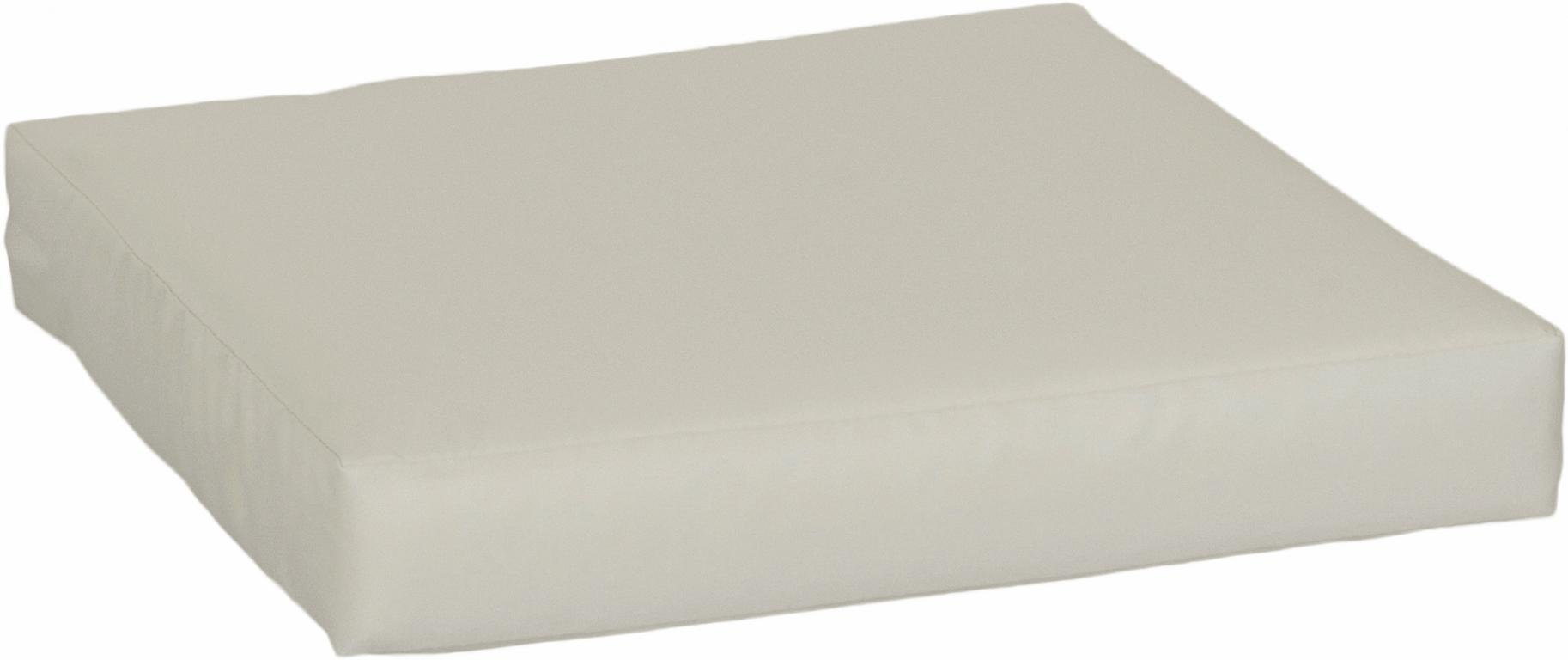 Lounge Sitzkissen Premium ca. 50 x 50 cm beige wasserabweisend aus 100% Polyester