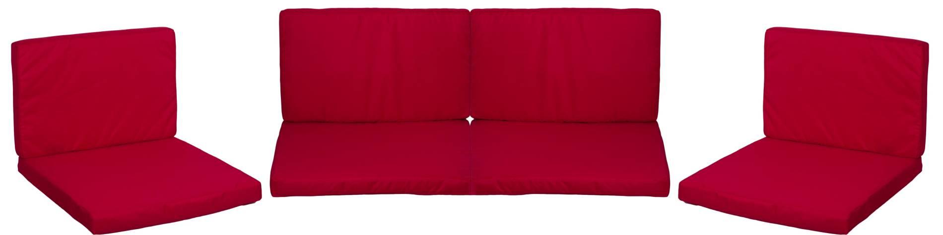 Gartenstuhlkissen 5cm dick in rot für Monaco Lounge Gruppen wasserabweisend