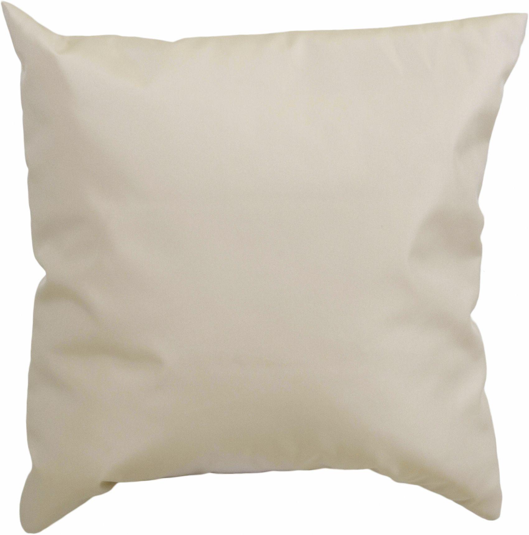 45 x 45 cm Lounge Dekokissen in beige wasserabweisend aus 100% Polyester